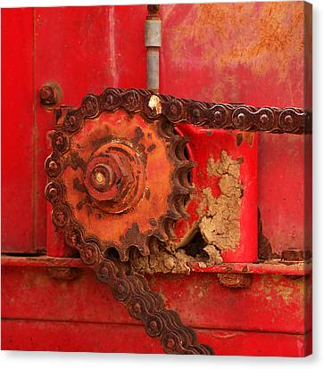 Cog And Chain Canvas Print