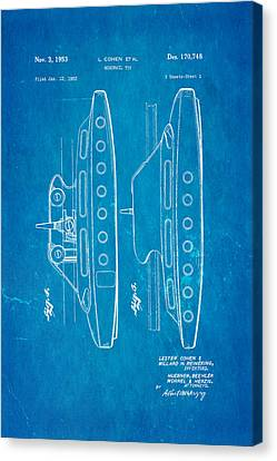 Monorail Canvas Print - Cohen Monorail Toy 2 Patent Art 1953 Blueprint by Ian Monk