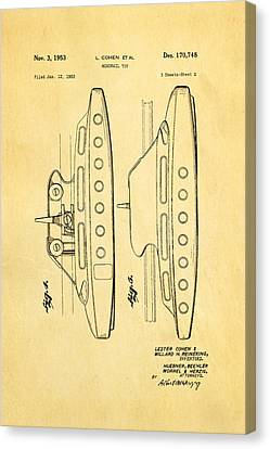 Monorail Canvas Print - Cohen Monorail Toy 2 Patent Art 1953 by Ian Monk