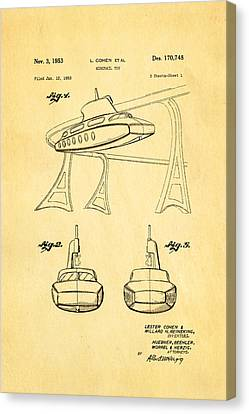 Monorail Canvas Print - Cohen Monorail Toy Patent Art 1953 by Ian Monk