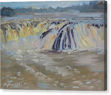 Cohoes Falls Canvas Print by Len Stomski