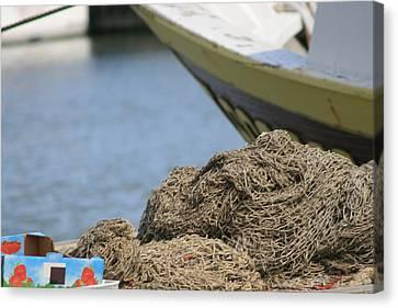 Coiled Fisherman's Net Canvas Print by Phoenix De Vries
