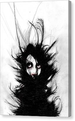 Coiling And Wrestling. Dreaming Of You Canvas Print by Rouble Rust