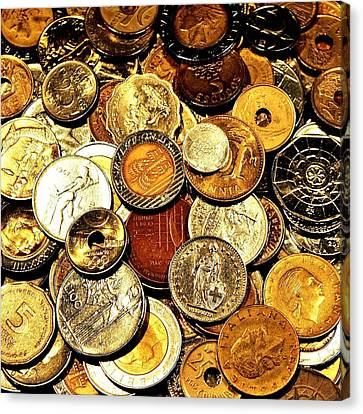 Coinage Canvas Print by Benjamin Yeager
