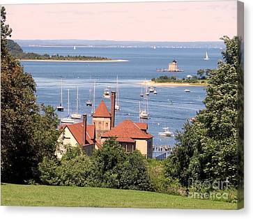 Coindre Hall Boathouse Canvas Print by Ed Weidman