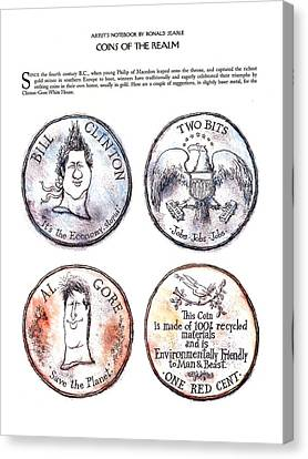 Coins Of The Realm Canvas Print by Ronald Searle