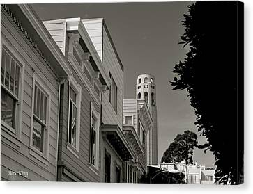 Canvas Print featuring the photograph Coit Tower by Alex King