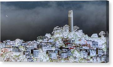 Coit Tower Surreal Canvas Print by Diego Re