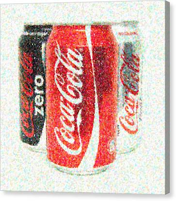 Coka Cola Pointillism Canvas Print by Antony McAulay