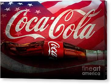 Coke Ads Life Canvas Print by Jon Neidert