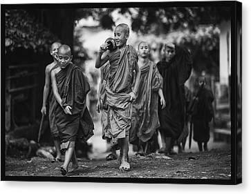 Cambodia Canvas Print - Coke And A Smile by David Longstreath