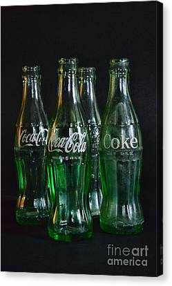 Coke Bottles From The 1950s Canvas Print by Paul Ward