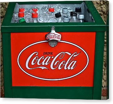 Coke Cooler Canvas Print