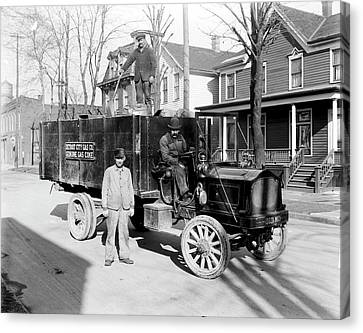 Coke Delivery Canvas Print by Library Of Congress