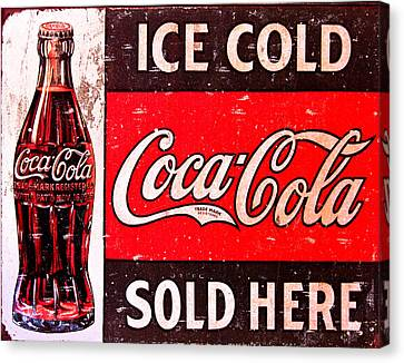 Vintage Sign Canvas Print - Coke by Reid Callaway
