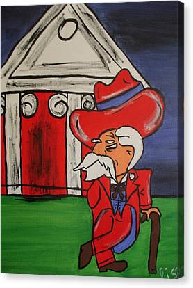 Col Reb Canvas Print by Lisa Collinsworth