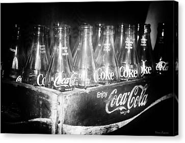 Canvas Print featuring the photograph Cola Crate by Yvonne Emerson AKA RavenSoul