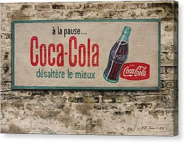 Cola Sign Canvas Print by Bill Jonas