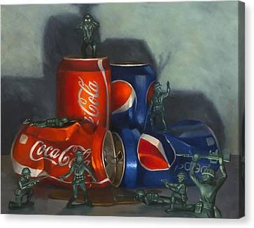 Cola Wars Canvas Print by Judy Sherman