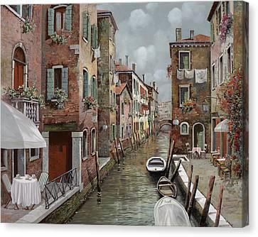 Canal Canvas Print - colazione a Venezia by Guido Borelli