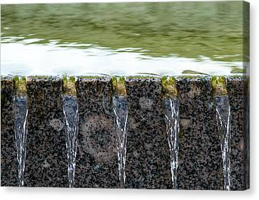 Cold And Clear Water - Featured 3 Canvas Print by Alexander Senin