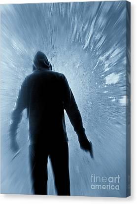 Gunman Canvas Print - Cold As Ice by Edward Fielding
