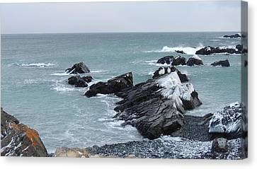 Cold Atlantic Rocks Canvas Print