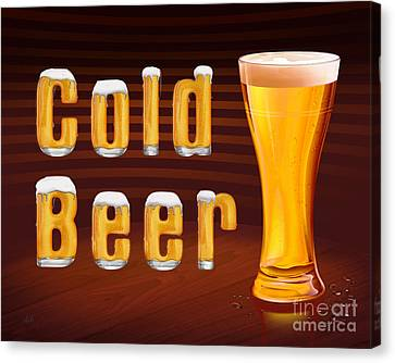 Cold Beer Canvas Print by Bedros Awak
