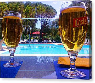Cold Beers Canvas Print by Giuseppe Epifani