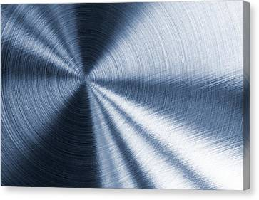 Cold Blue Metallic Texture Canvas Print
