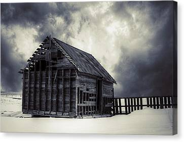 Cold - Bw Canvas Print by Thomas Zimmerman