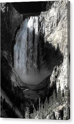 Canvas Print featuring the photograph Cold Cascade  by David Andersen