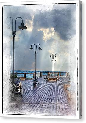 Cold Day In Monterey Canvas Print