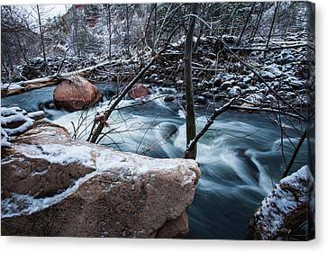 Cold Drift Canvas Print by Bill Cantey