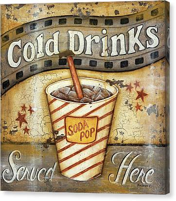 Cold Drinks Canvas Print by Kim Lewis