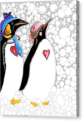 Cold Feet Warm Hearts Canvas Print by Eloise Schneider