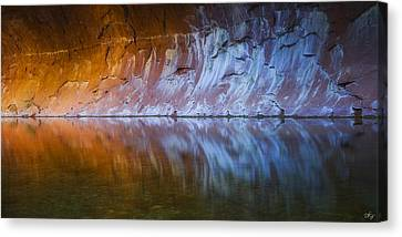 Cold Fire Canvas Print by Peter Coskun