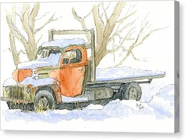 Cold Ford Canvas Print by David King