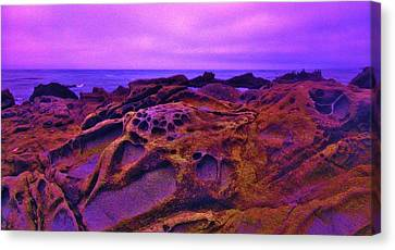 Cold Lava Canvas Print by Sharon Costa