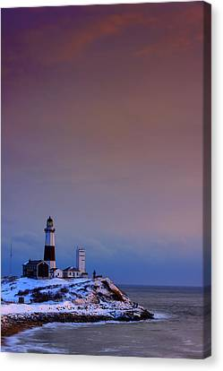 Cold Morning At Montauk Point Canvas Print