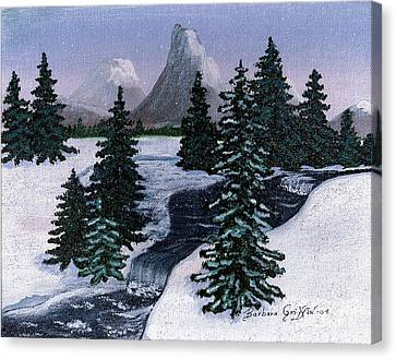 Cold Mountain Brook Canvas Print by Barbara Griffin