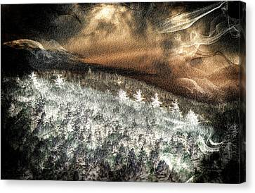 Cold Mountain Canvas Print by Tom Culver