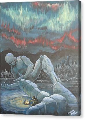 Cold Night Canvas Print by Amanda Ellis