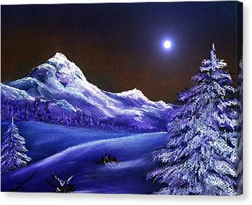 Cold Night Canvas Print by Anastasiya Malakhova