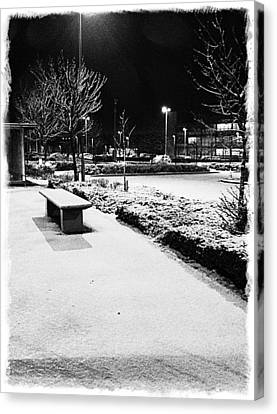 Cold Nights Journey Home Canvas Print by Andrew Allsopp