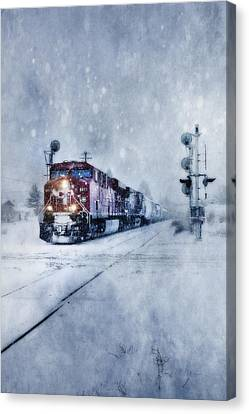 Cold Nights On The Midnight Train Color Canvas Print by Theresa Tahara