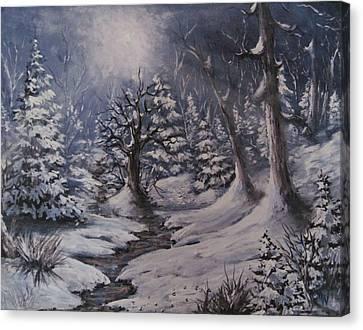 Cold Snap Canvas Print by Megan Walsh