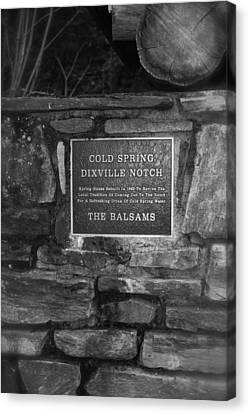Cold Spring Of Dixville Notch Close-up Canvas Print