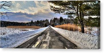 Cold Spring Road - Berkshire County Canvas Print