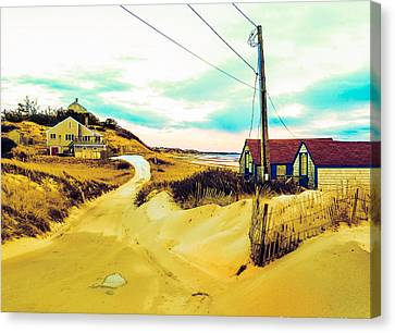 Cold Storage Beach / Truro, Cape Cod, Ma.  Canvas Print by Jeremy Drew Morgan